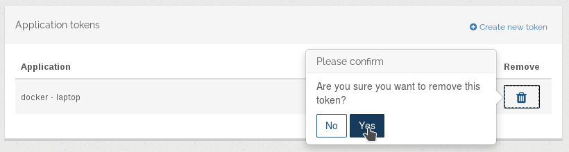 Application tokens